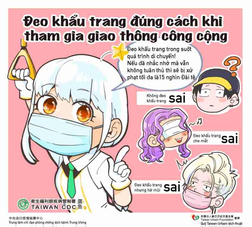 大眾運輸口罩禮儀(越南語)